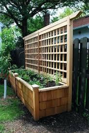 garden planters with trellis backing best 25 garden planter boxes