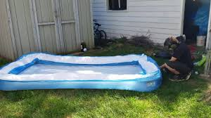 Backyard Blow Up Pools by How To Blow Up A Pool In Less Than A Minute With A Leaf Blower