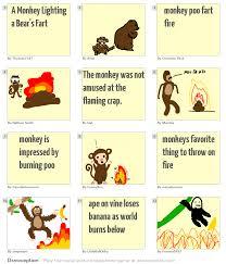 a monkey lighting a bear u0027s