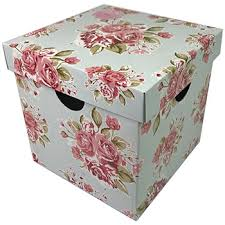 floral gift box large floral fold up storage gift box home storage at the works