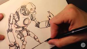 drawing a robot youtube