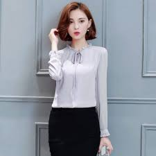 formal blouse fashion blouses style solid color chiffon office