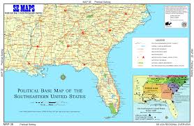 United States Map Major Cities by Map Of Southern United States My Blog