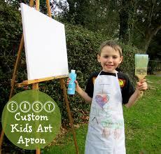 easy custom kids art apron beauty through imperfection