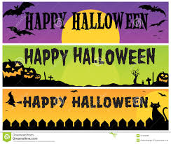 happy halloween banners royalty free stock photos image 21599588