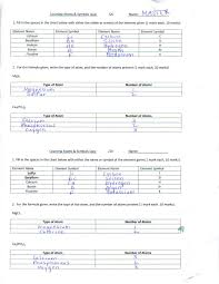 Counting Atoms Worksheet 1 Toxic Science
