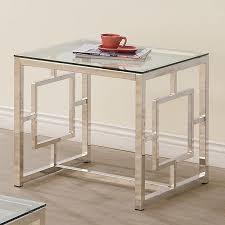 coaster company satin nickel coffee table satin nickel end table coaster furniture furniture cart