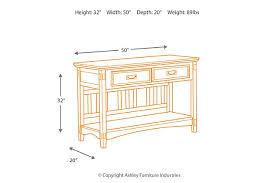 cross island sofa table cross island sofa console table ashley furniture homestore