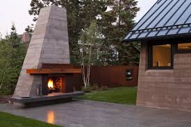 Outdoor Metal Fireplaces - exterior design warm outdoor fireplaces for your exciting home