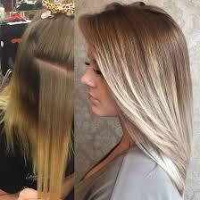 platinum blonde and dark brown highlights before after ash blonde light blonde dark roots platinum blonde
