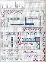 anaide ponto cruz lindos gráficos de ponto cruz de barrado de
