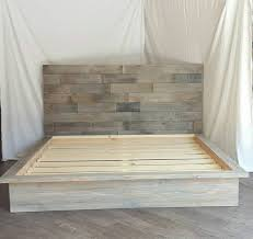 the steph grey driftwood finished platform bed with by thelakenest