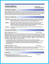 Sample Resume Of Network Engineer Network Support Resume Template