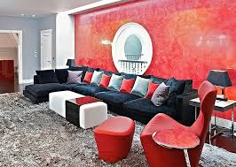 Black And White Chair And Ottoman Design Ideas Living Room Red Living Room Furniture Decorating Ideas With