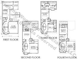 4 story townhouse floor plans for sale