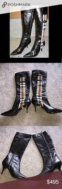 s burberry boots sale open2offers burberry black leather heeled boots shoes heels