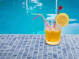 piscine en verre mosaïque de piscine au sol en verre brillante print