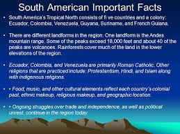 central american important facts ppt
