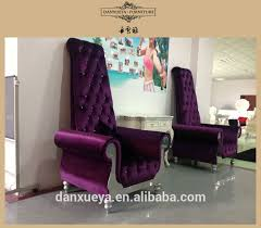 purple velvet fabric chair high back arm chair buy hotel high