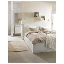 malm bed frame high w 2 storage boxes white leirsund 140x200 cm