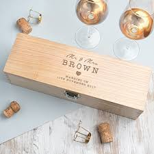 wedding keepsake gifts personalized wooden wine gift box personalized wedding