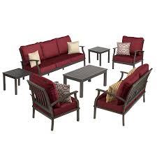 Lowes Patio Chair Cushions Shop Allen Roth Sunbrella Canvas Chili Seat Patio Chair