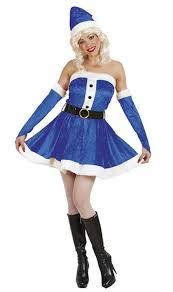 blue miss santa fancy dress costume by widmann 6120 karnival