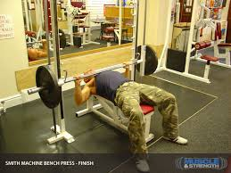 Bench Press Machine Weight Smith Machine Bench Press Video Exercise Guide U0026 Tips