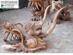 1 heads wood carvings from bali indonesia