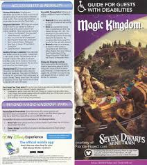 Disney World Magic Kingdom Map Disabled Walt Disney World Guidemaps