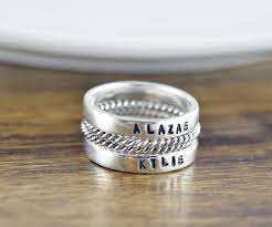 stackable engraved rings mothers stacking rings personalized stacking ring gift for