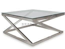 brushed nickel coffee table coylin coffee table signature design by ashley