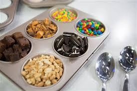sundae bar toppings ice cream sundae hacks unicorn sundae brownie bowls more
