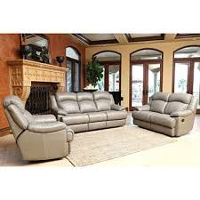 hamptons top grain leather reclining sofa loveseat and chair set