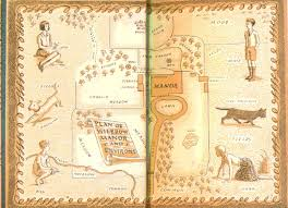 Book Map Endpaper Maps The Narrative Book Illustration