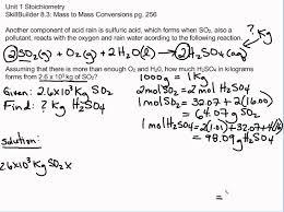 Stoichiometry Problems Worksheet Skillbuilder 8 3 Unit 1 Stoichiometry Chemistry Pinterest