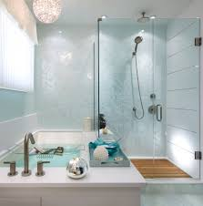 marvelous schonbek in bathroom contemporary with frameless glass