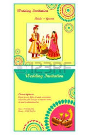 traditional indian wedding invitations vector illustration of indian wedding invitation card royalty free