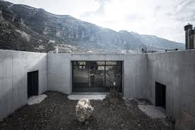 sc villa stone and concrete home in the mountains house