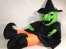 Jumbo Halloween Costumes Goffa Huge Green Witch Plush Jumbo 4 U0027 Ft Halloween Yard Decor