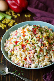 pasta slad classic macaroni salad easy go to side dish cooking classy