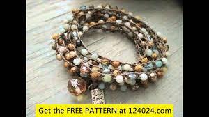 trellis ladder yarn necklace instructions crochet bracelet pattern with ladder yarn youtube