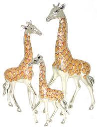saturno silver and enamel giraffe ornaments connard ltd