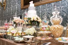 gold and pastels dessert and sweet table candy buffets l sweetie