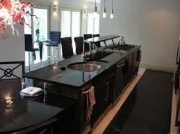 kitchen island with seating and stove houzz kitchen islands black