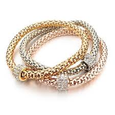 gold plated bracelet chain images 3 pc set of gold plated bracelets atypical store jpg