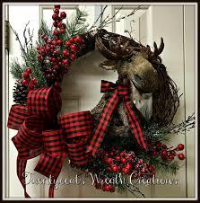Moose Christmas Tree Skirt Buffalo Check Christmas Moose By Twentycoats Wreath Creations