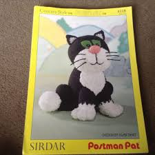 postman pat u0027s cat jess sirdar knitting pattern by alan dart