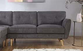 grey fabric corner sofa harlow slate grey fabric corner sofa only 899 99 furniture choice