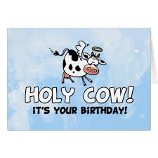 Cow Birthday Card Holy Cow It S Your Birthday Card Zazzle Com